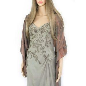 Dresses & Skirts - Tan Color Silk Formal Evening Dress